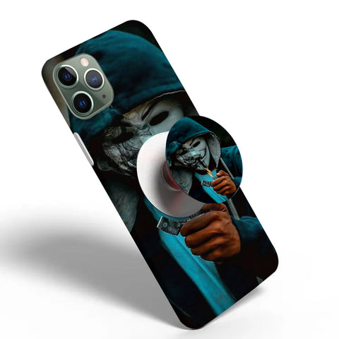 Crazywears Printed Phonecase with White Popsocket - Joker - 19
