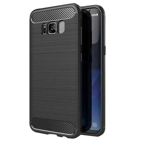 Samsung Galaxy S8 Mobile Phone Back Cover Carbon Fibre Case