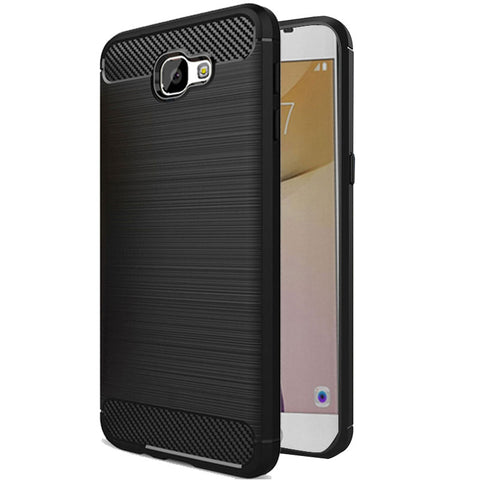 Samsung Galaxy J7 Prime / On7 2016 / On Nxt / J7 Prime 2  Mobile Phone Back Cover Carbon Fibre Case