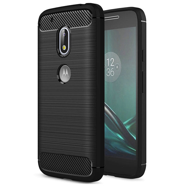 Motorola Moto G4 Play Mobile Phone Back Cover Carbon Fibre Case - www.crazywears.in