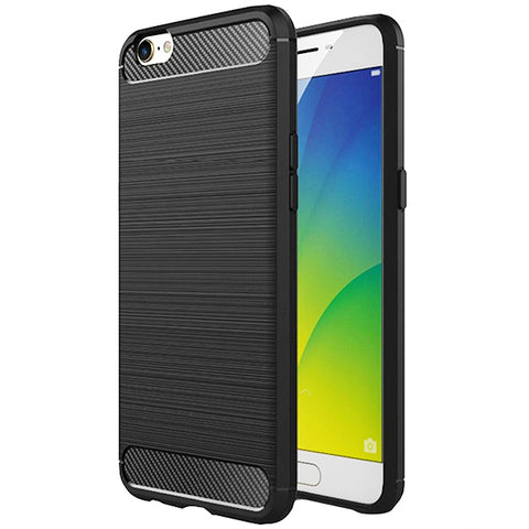 Oppo A57 Mobile Phone Back Cover Carbon Fibre Case