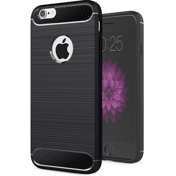 Apple iPhone 6 Plus / 6s Plus Mobile Phone Back Cover Carbon Fibre Case - www.crazywears.in