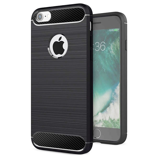 Apple iPhone 7 Mobile Phone Back Cover Carbon Fibre Case - www.crazywears.in
