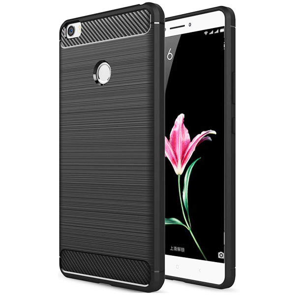 Xiaomi Mi Max Mobile Phone Back Cover Carbon Fibre Case