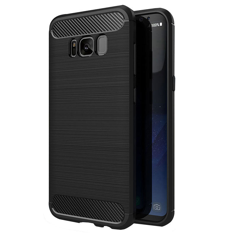 Samsung Galaxy S8 Plus Mobile Phone Back Cover Carbon Fibre Case - www.crazywears.in