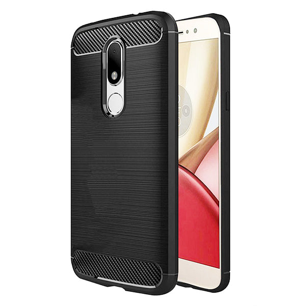 Motorola Moto M Mobile Phone Back Cover Carbon Fibre Case