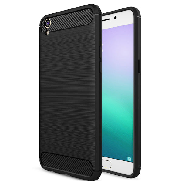 Oppo F1s / A59 Mobile Phone Back Cover Carbon Fibre Case