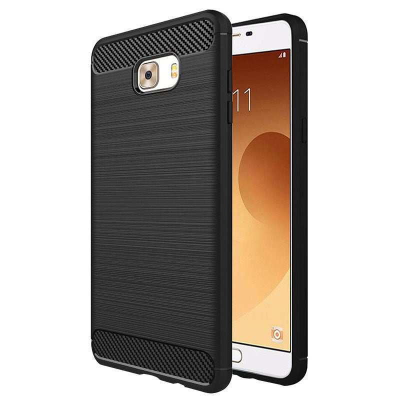 Samsung Galaxy C9 Pro Mobile Phone Back Cover Carbon Fibre Case