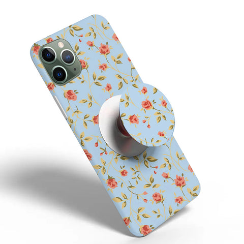 Crazywears Printed Phonecase with White Popsocket - Florals - 23