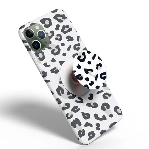 Crazywears Printed Phonecase with White Popsocket - Cheetah - 25