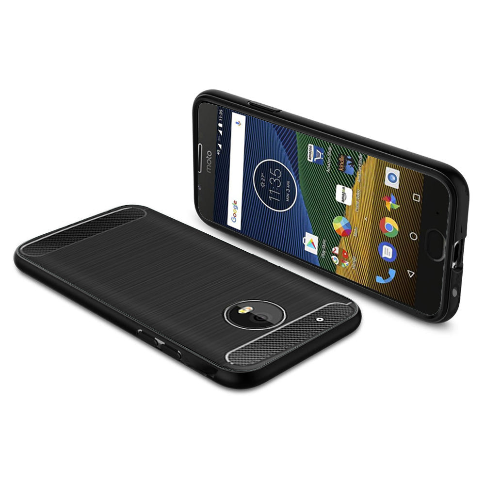 Motorola Moto G5 Mobile Phone Back Cover Carbon Fibre Case - www.crazywears.in