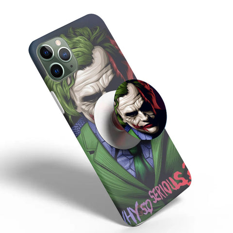 Crazywears Printed Phonecase with White Popsocket - Joker - 63
