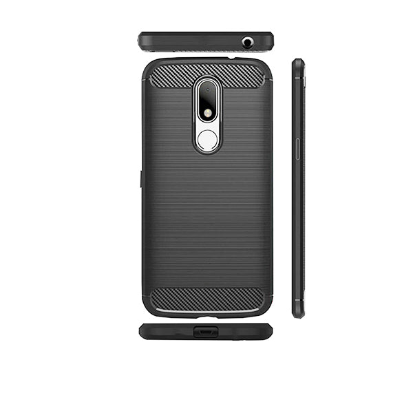 Motorola Moto M Mobile Phone Back Cover Carbon Fibre Case - www.crazywears.in