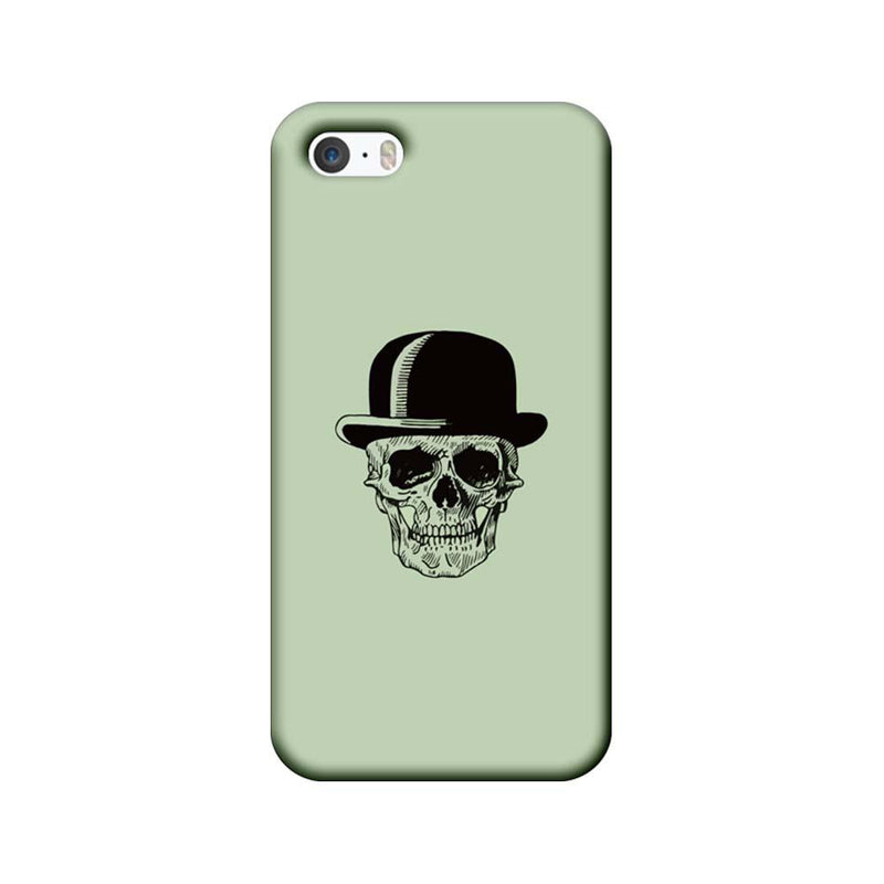 Apple iPhone 5 / 5s / SE Mobile Cover Printed Designer Case Skull head with Hat