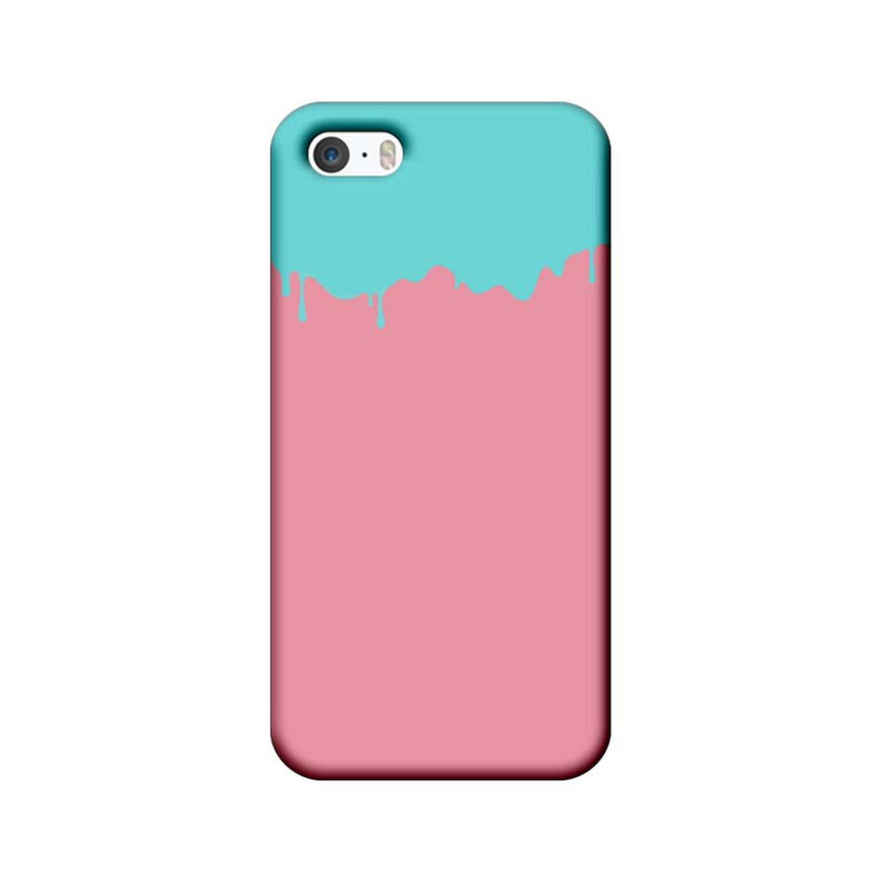 Apple iPhone 5 / 5s / SE Mobile Cover Printed Designer Case Pink and Skyblue Brush Stroke