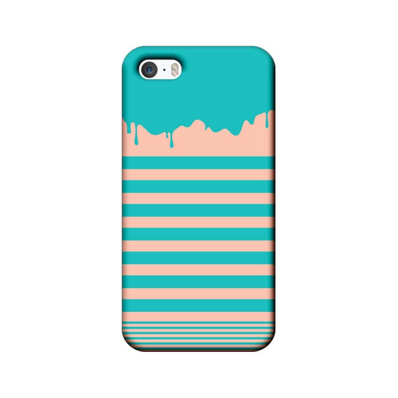 Apple iPhone 5 / 5s / SE Mobile Cover Printed Designer Case Stripes and Brush Stroke