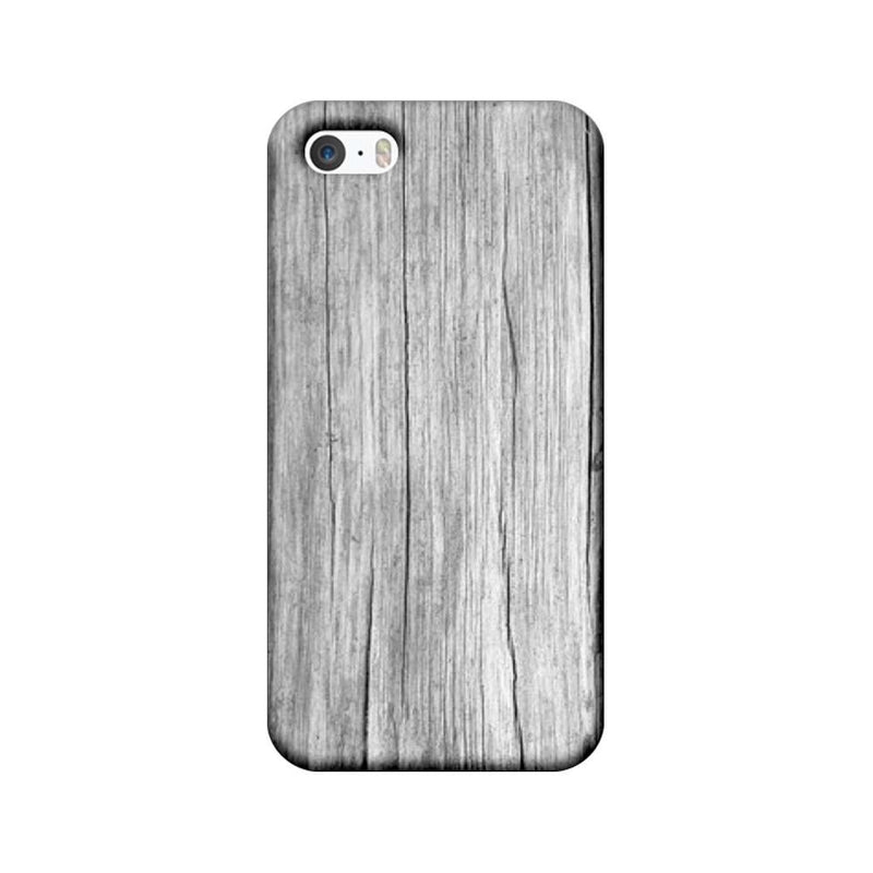Apple iPhone 5 / 5s / SE Mobile Cover Printed Designer Case White Dust Wood