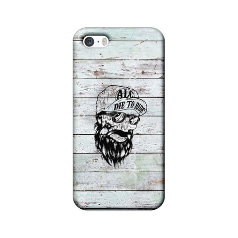 Apple iPhone 5 / 5s / SE Mobile Cover Printed Designer Case Beard Skeleton
