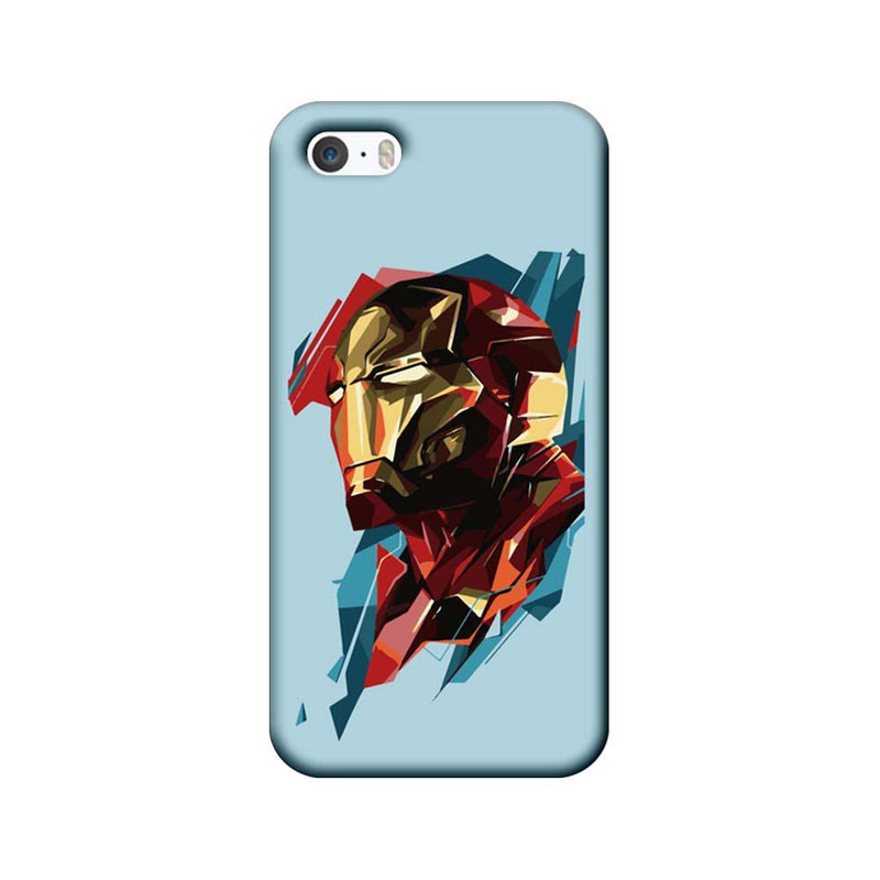 Apple iPhone 5 / 5s / SE Mobile Cover Printed Designer Case Ironman illustration 2.0