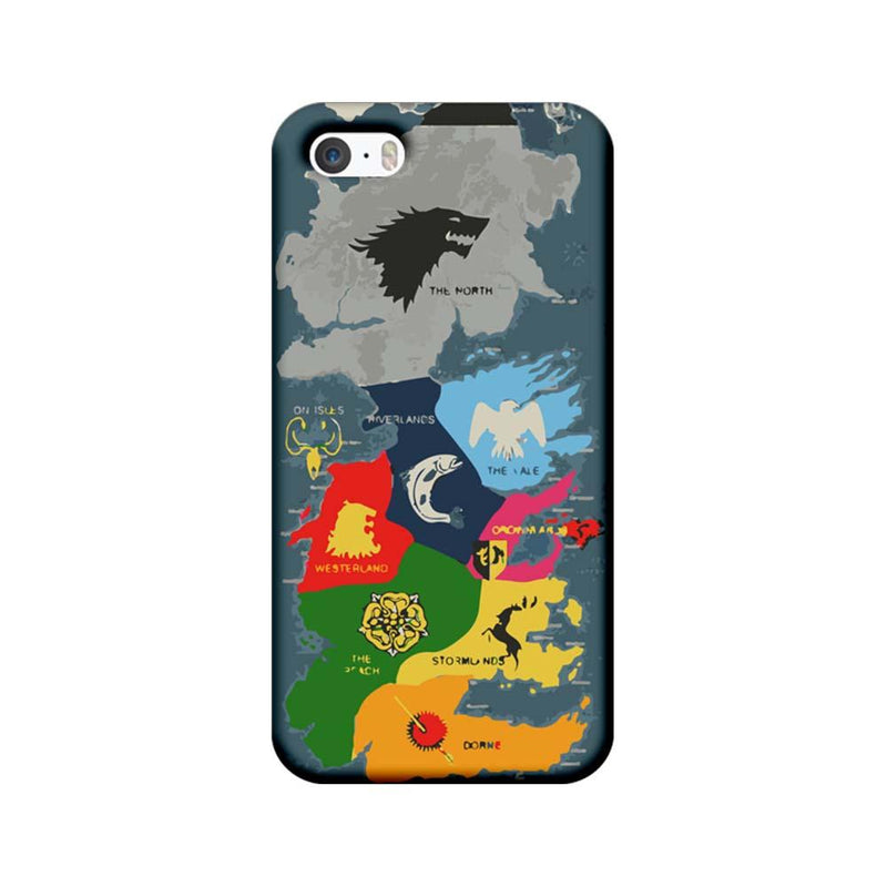Apple iPhone 5 / 5s / SE Mobile Cover Printed Designer Case Game of Throne Map