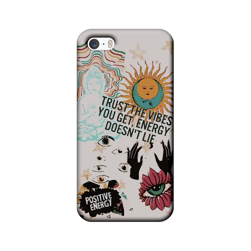 Apple iPhone 5 / 5s / SE Mobile Cover Printed Designer Case Positive Energy