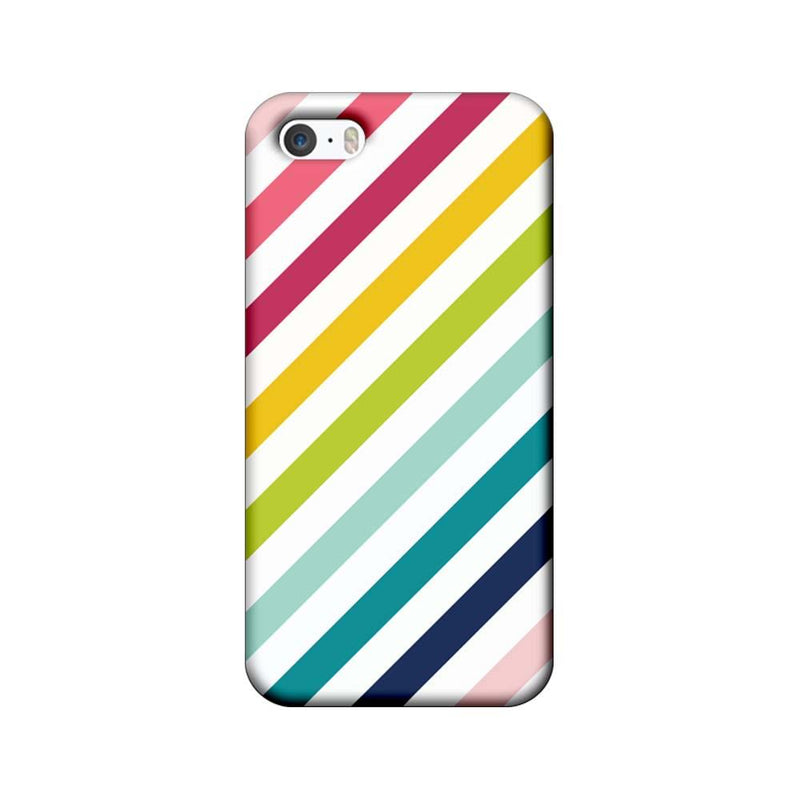 Apple iPhone 5 / 5s / SE Mobile Cover Printed Designer Case Multicolour Stripes