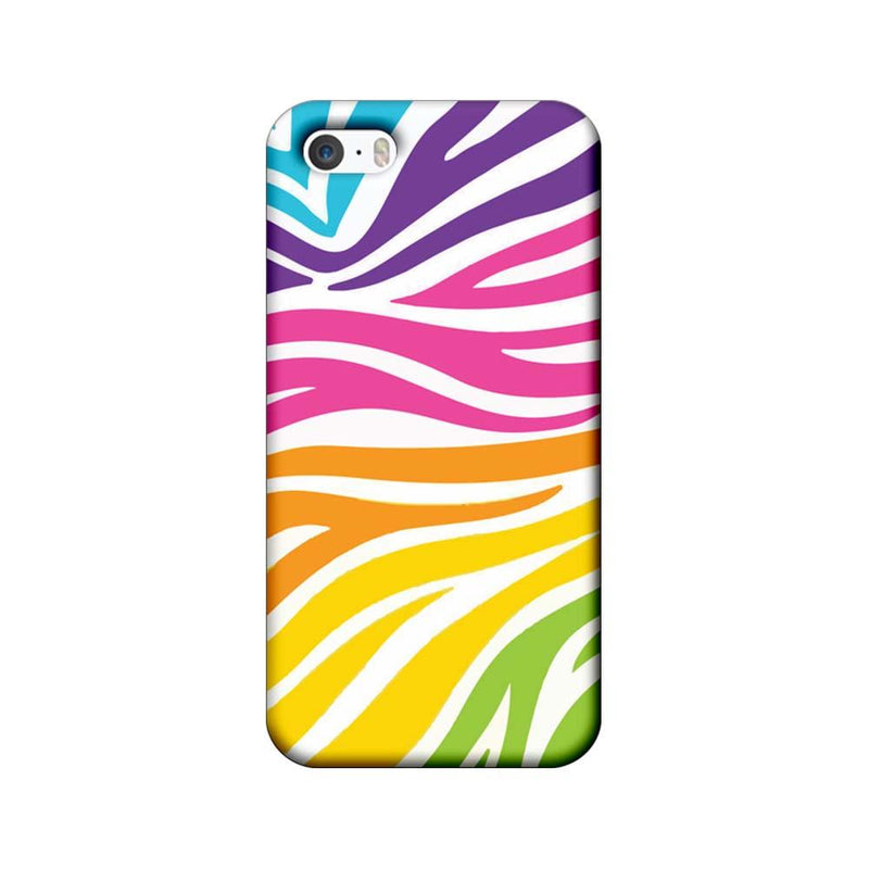 Apple iPhone 5 / 5s / SE Mobile Cover Printed Designer Case Multicolour Zebre Pattern