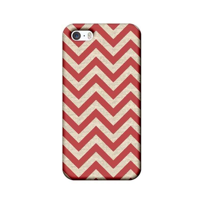 Apple iPhone 5 / 5s / SE Mobile Cover Printed Designer Case Zigzag Stripes