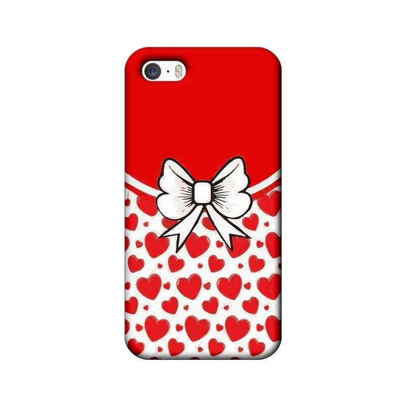 Apple iPhone 5 / 5s / SE Mobile Cover Printed Designer Case Red Hearts