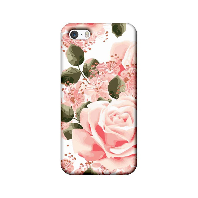 Apple iPhone 5 / 5s / SE Mobile Cover Printed Designer Case Pink Rose