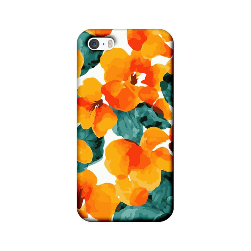 Apple iPhone 5 / 5s / SE Mobile Cover Printed Designer Case Yellow Flower Artwork