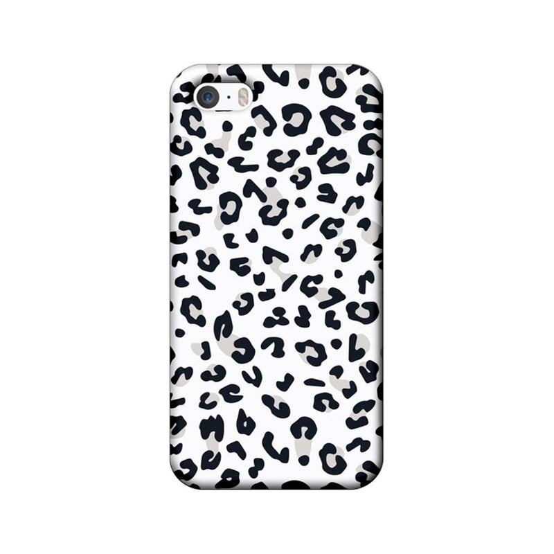 Apple iPhone 5 / 5s / SE Mobile Cover Printed Designer Case White Cheetah Pattern