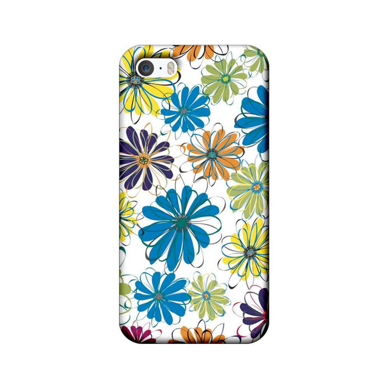 Apple iPhone 5 / 5s / SE Mobile Cover Printed Designer Case Floral Pattern three
