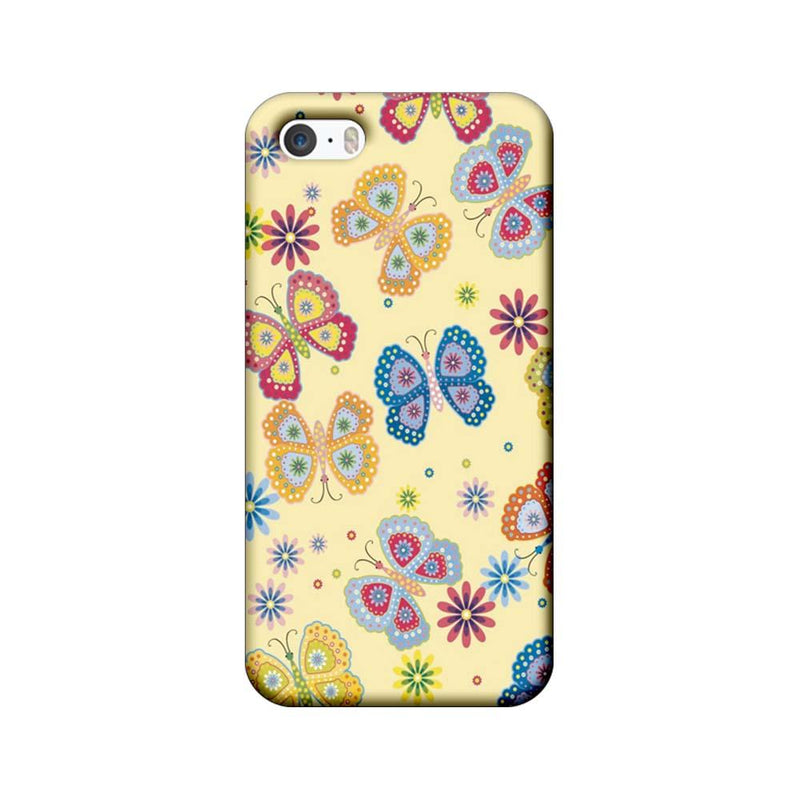 Apple iPhone 5 / 5s / SE Mobile Cover Printed Designer Case Butterflies