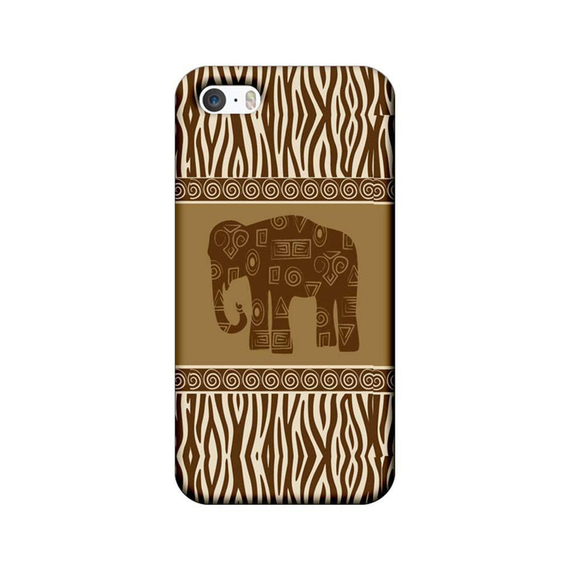 Apple iPhone 5 / 5s / SE Mobile Cover Printed Designer Case Indian Art Elephant