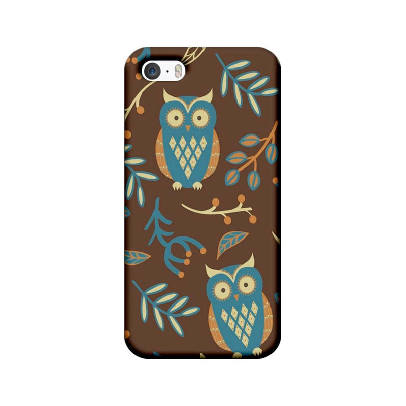 Apple iPhone 5 / 5s / SE Mobile Cover Printed Designer Case Indian Art Owl