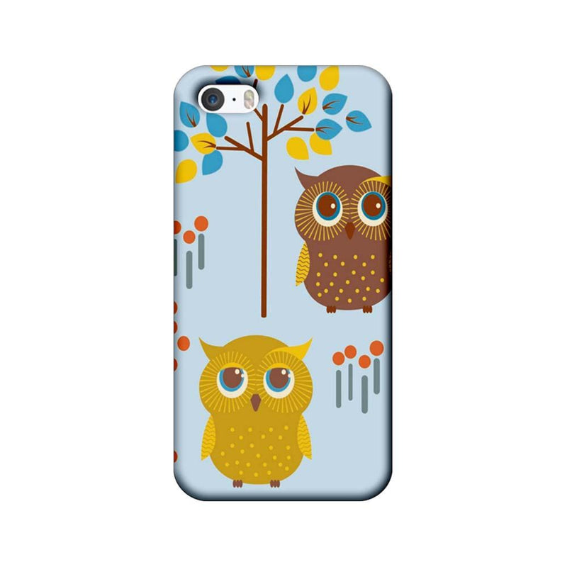 Apple iPhone 5 / 5s / SE Mobile Cover Printed Designer Case Indian Art Owls
