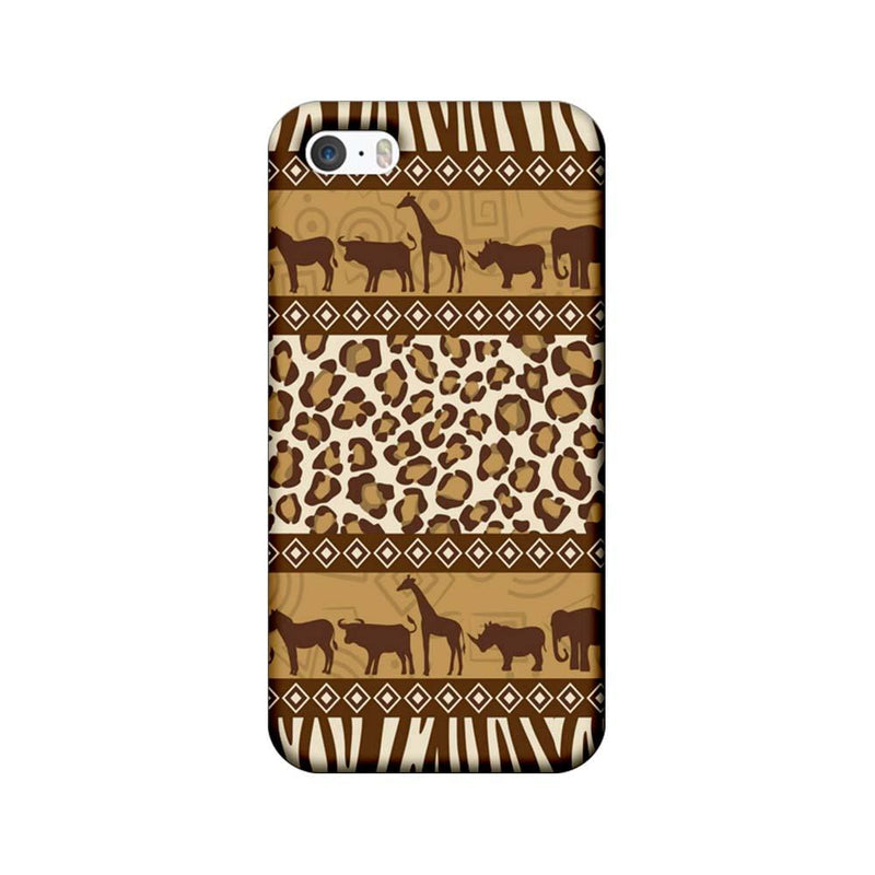 Apple iPhone 5 / 5s / SE Mobile Cover Printed Designer Case Indian Art Animals