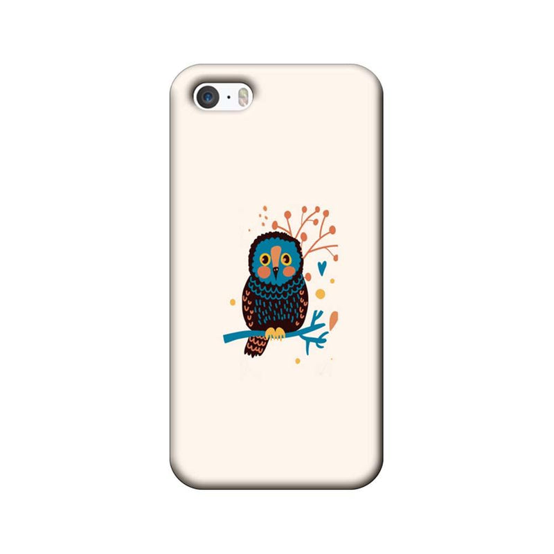 Apple iPhone 5 / 5s / SE Mobile Cover Printed Designer Case colourful owl