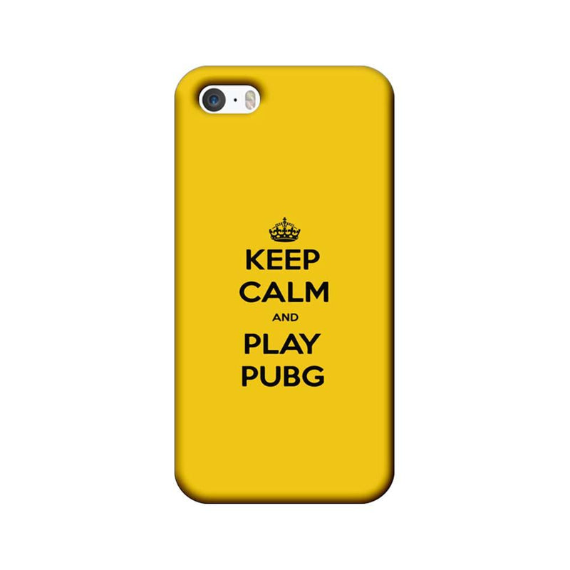 Apple iPhone 5 / 5s / SE Mobile Cover Printed Designer Case Keep Calm and Play PUBG