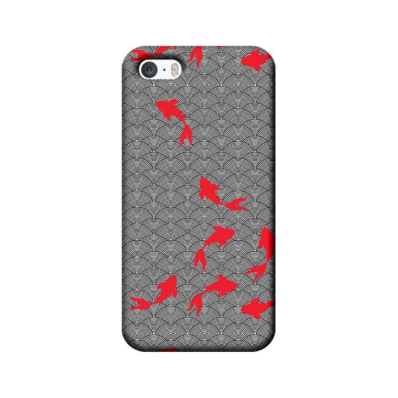 Apple iPhone 5 / 5s / SE Mobile Cover Printed Designer Case Fishes illustration