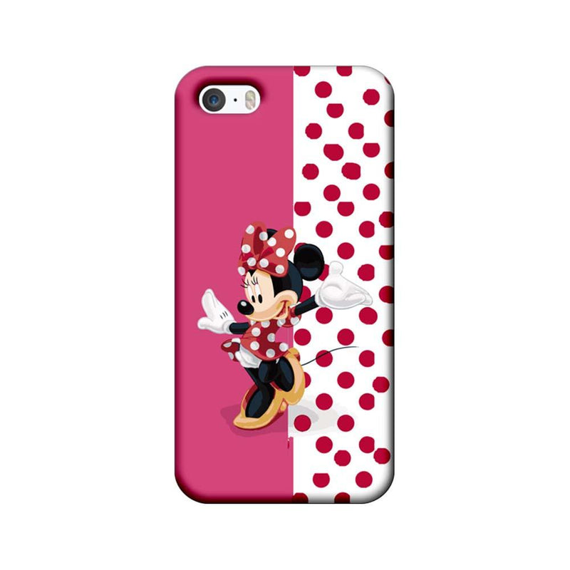 Apple iPhone 5 / 5s / SE Mobile Cover Printed Designer Case Dotted Mickey Mouse