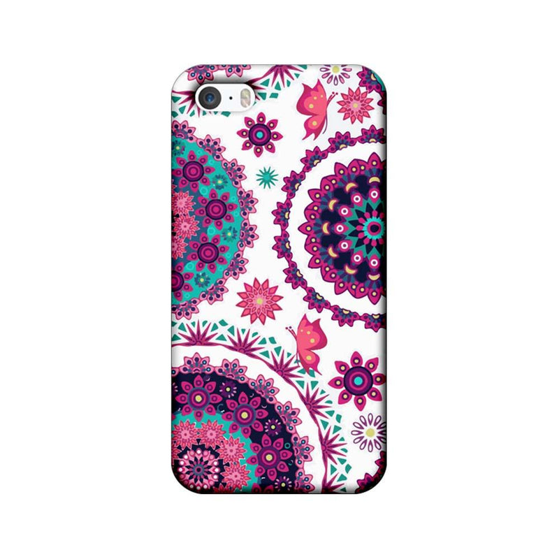 Apple iPhone 5 / 5s / SE Mobile Cover Printed Designer Case Circle Pattern