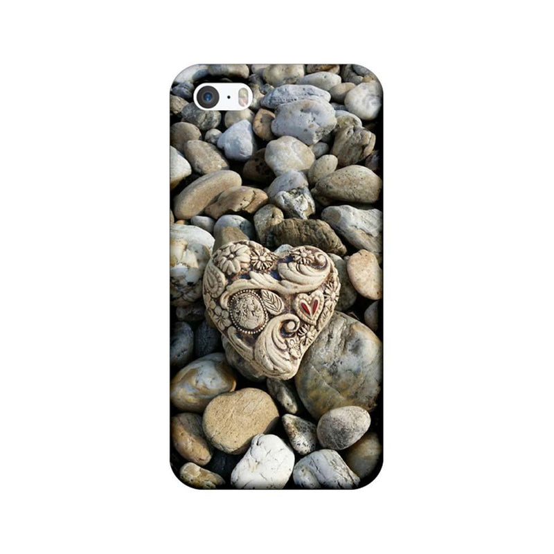 Apple iPhone 5 / 5s / SE Mobile Cover Printed Designer Case Heart Stone