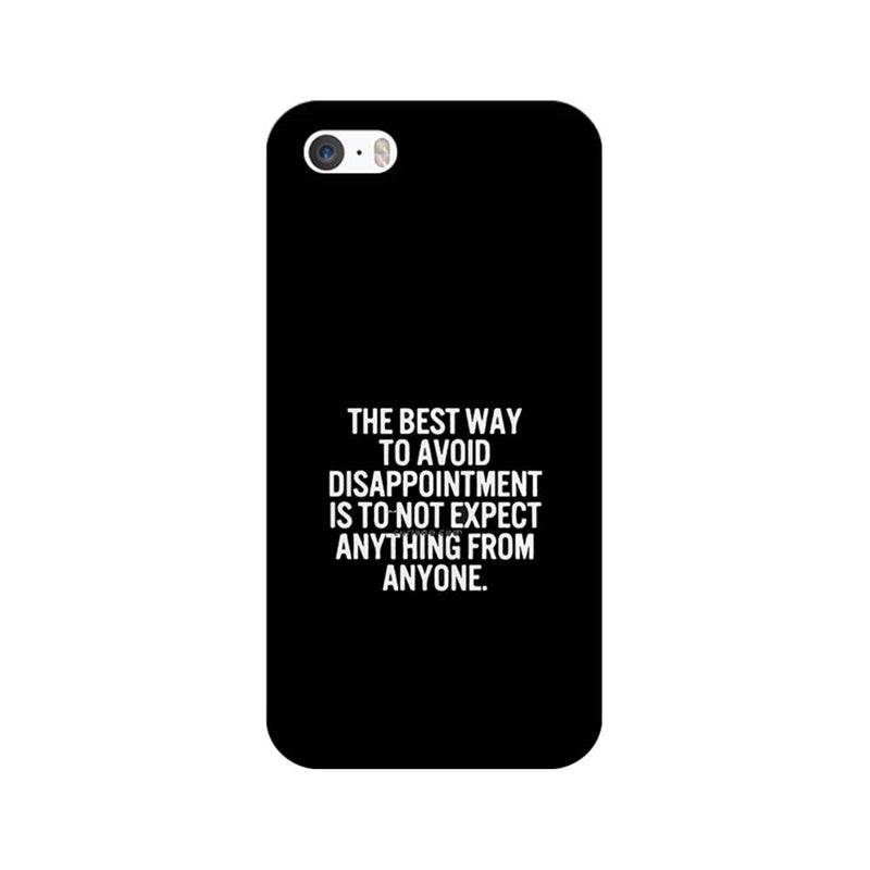 Apple iPhone 5 / 5s / SE Mobile Cover Printed Designer Case The Best Way