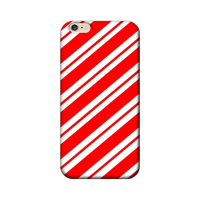 Apple iPhone 6 / 6s Mobile Cover Printed Designer Case Red and White Stripes