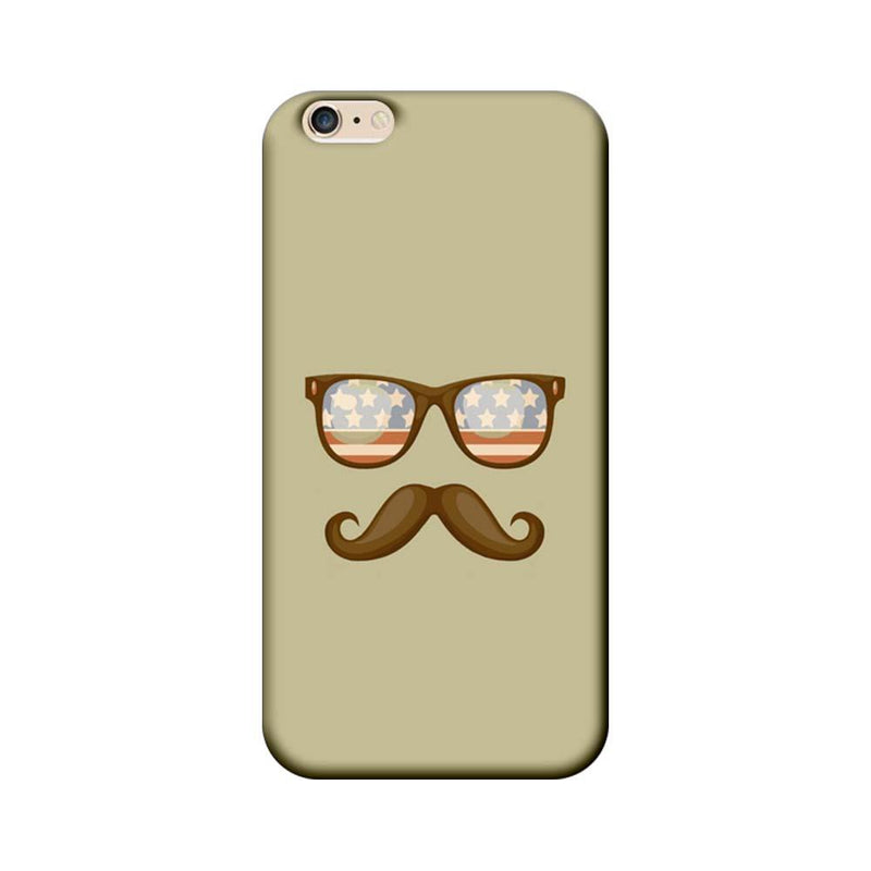 Apple iPhone 6 / 6s Mobile Cover Printed Designer Case Spect and Moustache