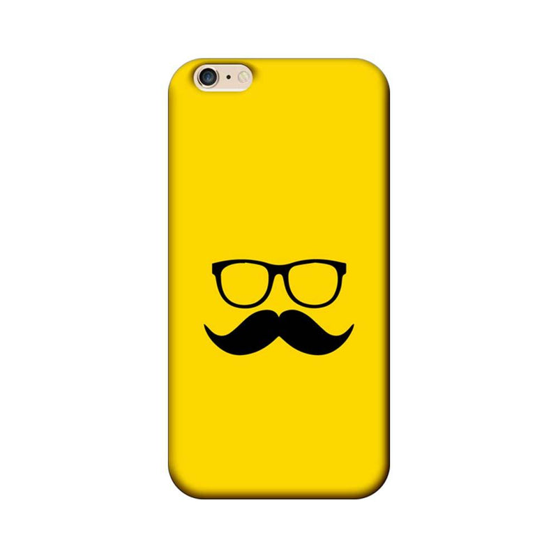 Apple iPhone 6 / 6s Mobile Cover Printed Designer Case Yellow and Black Moustache