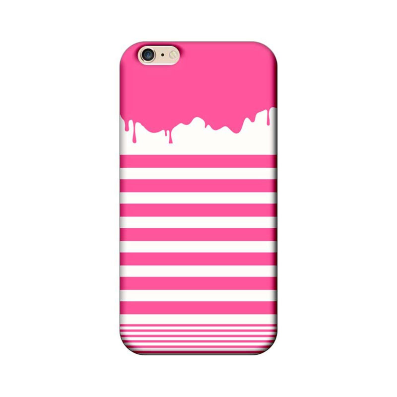 Apple iPhone 6 / 6s Mobile Cover Printed Designer Case Pink Stripes Brush Stroke