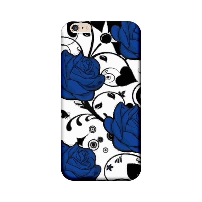 Apple iPhone 6 / 6s Mobile Cover Printed Designer Case Blue Rose Floral